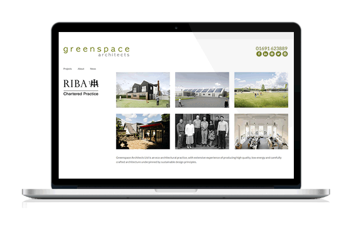 Web Design Portfolio - Greenspace Architects